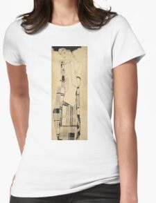 Egon Schiele - Standing Girl. Schiele - woman portrait. Womens Fitted T-Shirt