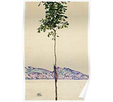 Egon Schiele - Little Tree. Schiele - forest view. Poster