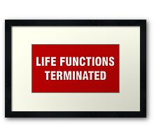 2001 SPACE ODYSSEY - HAL 9000 - LIFE FUNCTIONS TERMINATED Framed Print