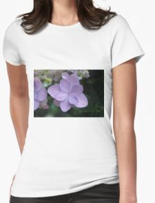Hydrangea Blossoms Womens Fitted T-Shirt