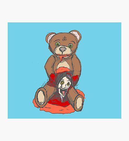 Satanic Teddy - Bad Toy Photographic Print