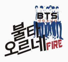 ♥♫Fire BTS-Bangtan Boys K-Pop Clothes & Phone/iPad/Laptop/MackBook Cases/Skins & Bags & Home Decor & Stationary♪♥ Kids Tee