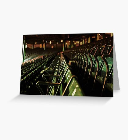 Bostons Fenway Park Baseball Vintage Seats Greeting Card