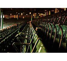 Bostons Fenway Park Baseball Vintage Seats Photographic Print