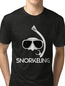 Snorkeling Diving Tri-blend T-Shirt