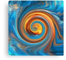The Circle Game - Abstract 54  art/ Clothing+Products Design Canvas Print