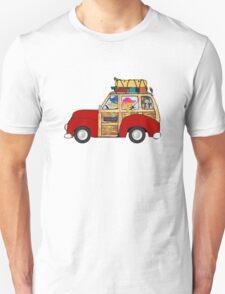 Preppy Golden Retrievers - Summer Camping Vacation Unisex T-Shirt