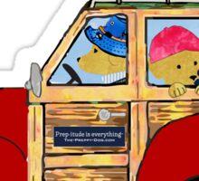 Preppy Golden Retrievers - Summer Camping Vacation Sticker