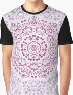 A Glittering Colorful Mandala Graphic T-Shirt