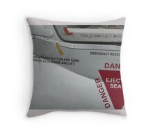 Danger! Ejection seat Throw Pillow