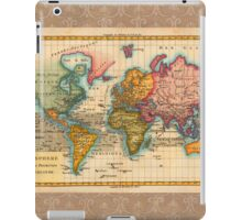 World Map 1700s Antique Vintage Hemisphere Continents Geography iPad Case/Skin
