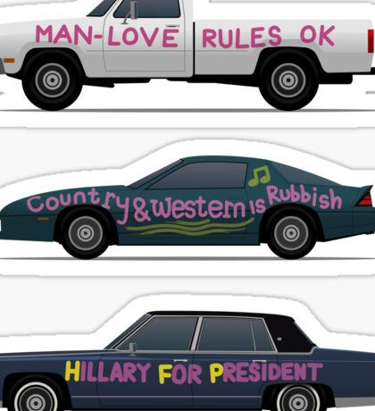 US Road Trip Cars Sticker