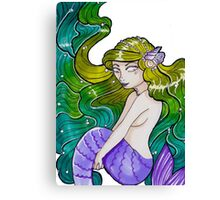 seaweed mermaid Canvas Print
