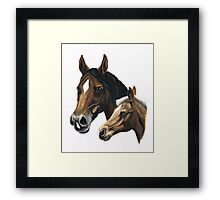 mare and foal painting Framed Print
