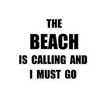 Beach Calling Photographic Print