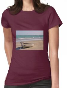 Boat on the beach Womens Fitted T-Shirt