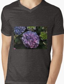 Shades of Pink and Purple Hydrangea  Mens V-Neck T-Shirt