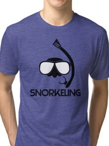 Snorkeling Diving Tri-blend T-Shirt