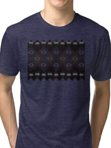 Knitted space invaders ugly sweater Tri-blend T-Shirt