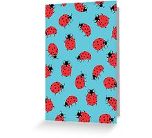 Ladybird Print Greeting Card