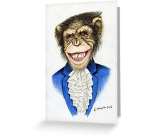 chimp the pimp Greeting Card