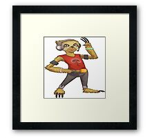 sloth gamer headset Framed Print