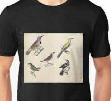 Naturgeschichte in Bildern mit erläuterndem Text E Strack 1820 Lief 2 Birds 043 Unisex T-Shirt