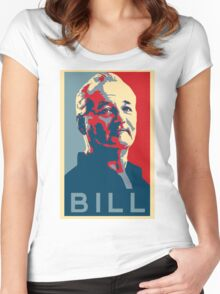 Bill Murray, Obama Hope Poster Women's Fitted Scoop T-Shirt