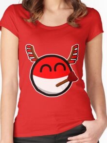Polandball Women's Fitted Scoop T-Shirt