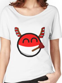 Polandball Women's Relaxed Fit T-Shirt