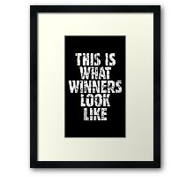 This is what winners look like (Vintage White) Framed Print