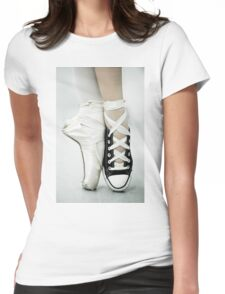 Converse / Pointe Shoe Womens Fitted T-Shirt