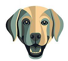 the dog art Photographic Print