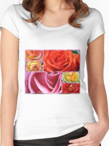 Love Roses Women's Fitted Scoop T-Shirt