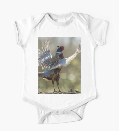 Male Ring-necked Pheasant Crowing One Piece - Short Sleeve