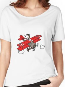 flying snoopy Women's Relaxed Fit T-Shirt