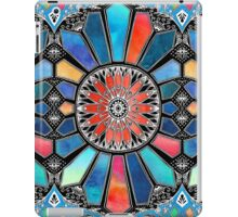 Iridescent Watercolor Brights on Black  iPad Case/Skin