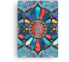 Iridescent Watercolor Brights on Black  Canvas Print
