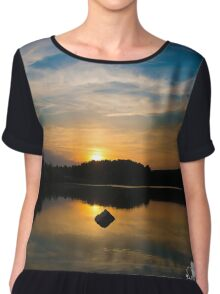Serenity On The Lake Chiffon Top