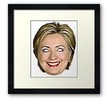 Evil Hillary Clinton Framed Print