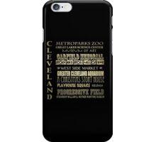Cleveland Ohio Famous Landmarks iPhone Case/Skin