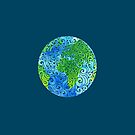 Swirly Earth by _ VectorInk