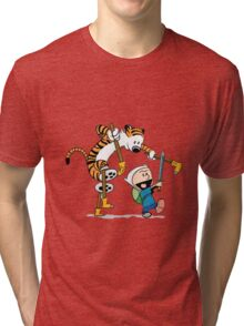 hobbes and calvin time advanture Tri-blend T-Shirt