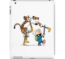 hobbes and calvin time advanture iPad Case/Skin