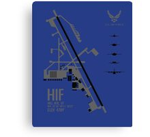 Hill Air Force Base Airfield Diagram Canvas Print