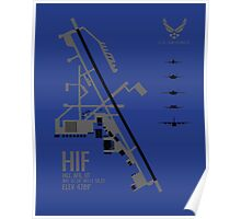 Hill Air Force Base Airfield Diagram Poster