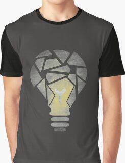 Shattered Lightbulb Graphic T-Shirt