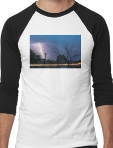 17th Street Car Lights and Lightning Strikes Men's Baseball ¾ T-Shirt