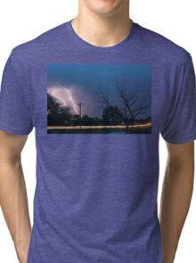 17th Street Neon Lights and Lightning Strikes Tri-blend T-Shirt