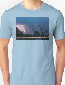 17th Street Neon Lights and Lightning Strikes Unisex T-Shirt
